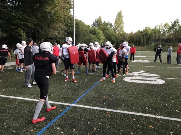Junior Loewen trainieren mit den Braunschweig Lions